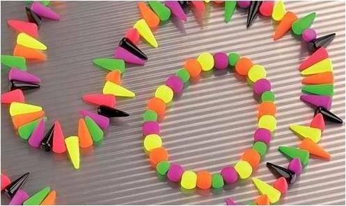 Glas Neons, Neonperlen für Schmuckgestaltung und Dekoration