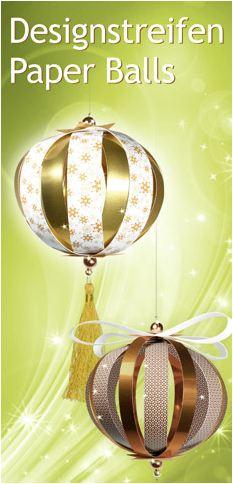 Designstreifen Paper Balls, Paper Globes und ganz NEU Paper Stars