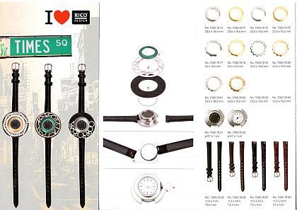 Time Square, Wechselschmucksystem, Uhrenkonzept, Rico Design RIngs Modeschmuck, Wechselschmuck